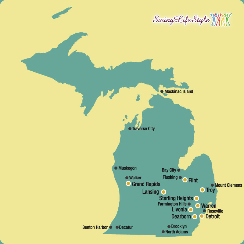 Michigan Swinger Clubs Map
